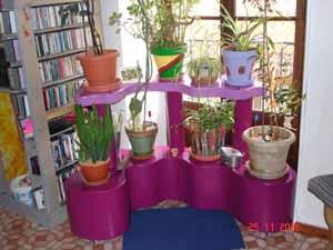 Porte plantes sur roulettes - Meuble plante ...